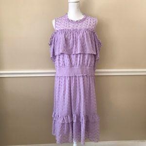 Lane Bryant Lilac Ruffle Dress Size 20